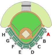 座席図 - A階段