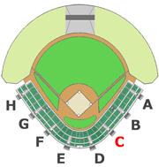 座席図 - C階段
