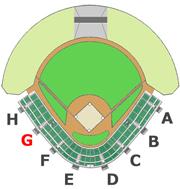 座席図 - G階段