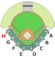 座席図 - H階段